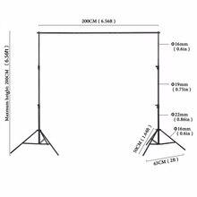 2×2 m Marco de Aluminio de Calidad Manual de marco de fondo de Fondo de Equipo Fotográfico Negro Soporte para photo studio