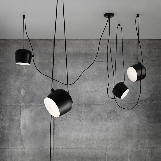 Nordic personality diy spider pendant lamp black drum shade pendant nordic personality diy spider pendant lamp black drum shade pendant light modern adjustable hanging drum light mozeypictures Gallery