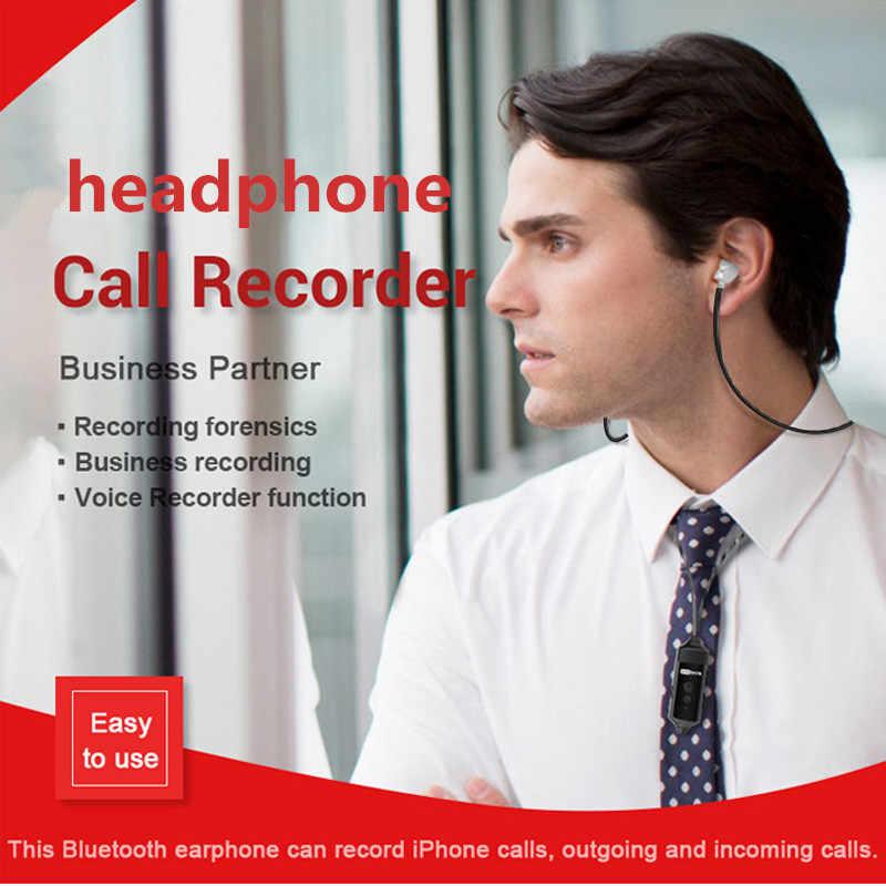 Bezprzewodowy rejestrator rozmów Bluetooth słuchawka do iPhone'a telefonu komórkowego z systemem Android rozmowy przychodzące wychodzące połączenia nagrywania