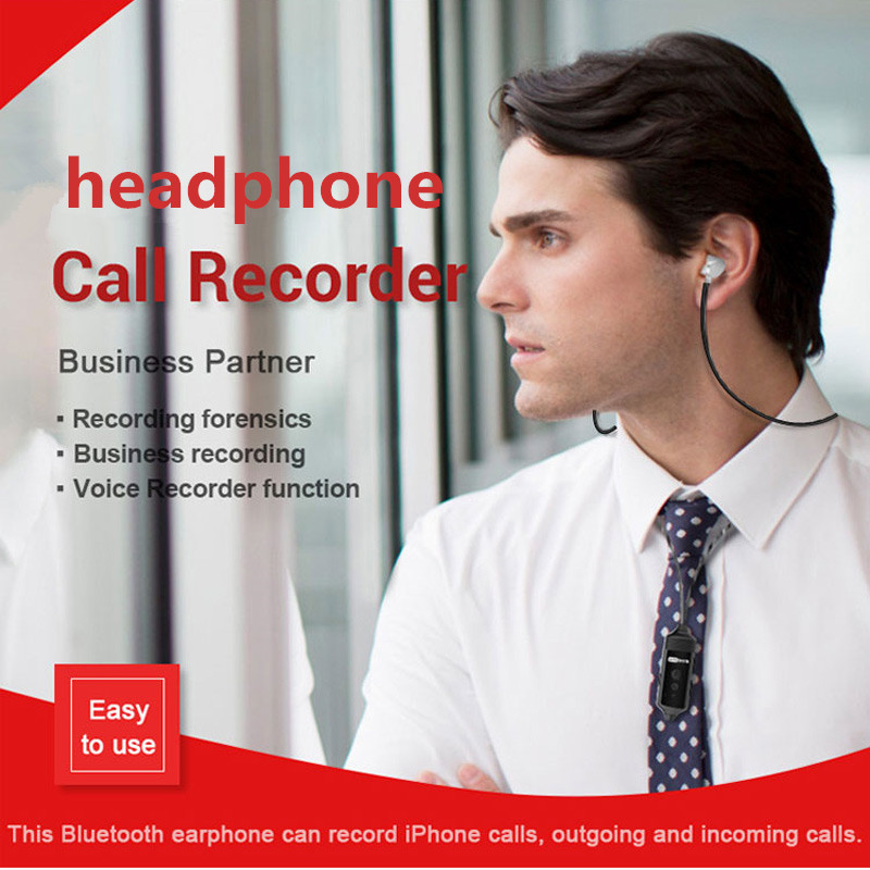 Image 5 - Wireless Bluetooth Call Recorder Earphone for iPhone Android Mobile Phone Conversation Incoming Outgoing Calls Recording-in Phone Earphones & Headphones from Consumer Electronics