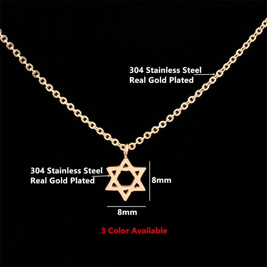Retro ebreju rotaslietas zvaigzne Dāvida kulona kaklarota sieviešu - Modes rotaslietas - Foto 2