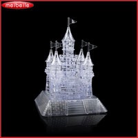 3D Crystal Blocks Castle 105 Pieces Jigsaw Model DIY Mound And Keep Furnishing Blocks Lepin Educational Toys