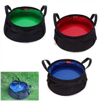 Ultralekki 8 5L przenośny składany umywalka Camping Basin Outdoor Survival zestawy podróżne piknik wędkarstwo polowanie sprzęt tanie i dobre opinie CN (pochodzenie) kieszonkowe narzędzia uniwersalne