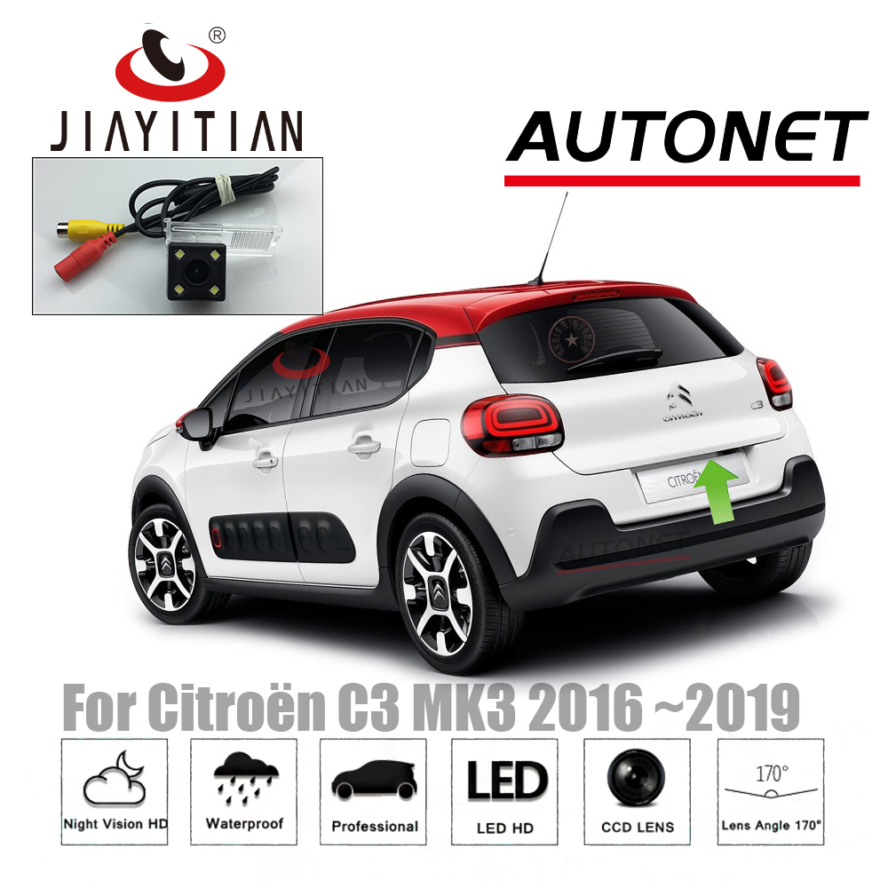 JIAYITIAN-caméra de vue arrière pour Citroen C3 MK3   2016 2017 2018 2019 CCD/Vision nocturne/caméra de sauvegarde, plaque d'immatriculation, caméra inversée
