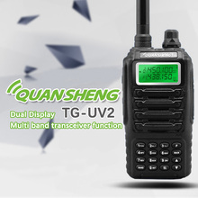 Dual band 2 vie two way radio dual standby doppio display QUANSHENG TG-UV2 con certificazione FCC del CE Walkie Talkie