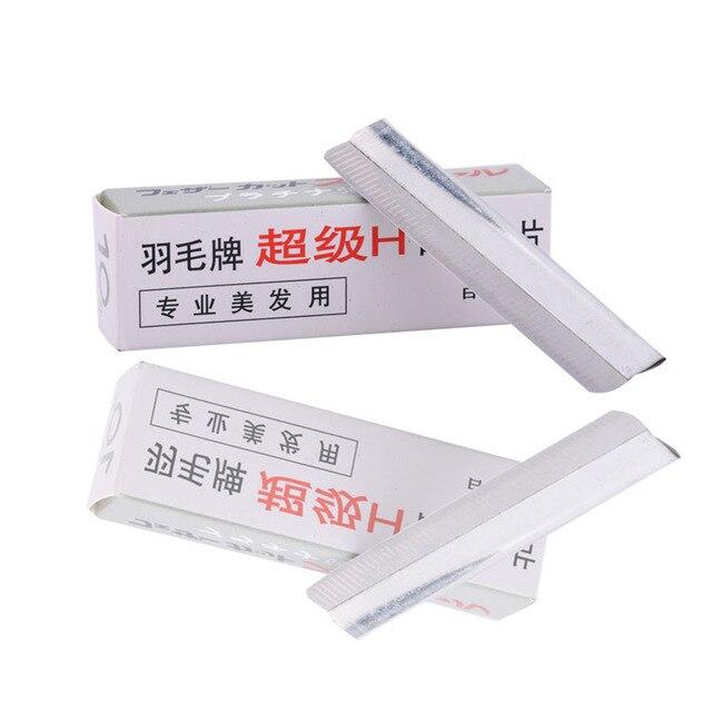 10pcs/Set Portable Eyebrow Trimmer Blade Makeup Safe Sharp Threading Stainless Steel Knife Women Beauty Tools Kit 5