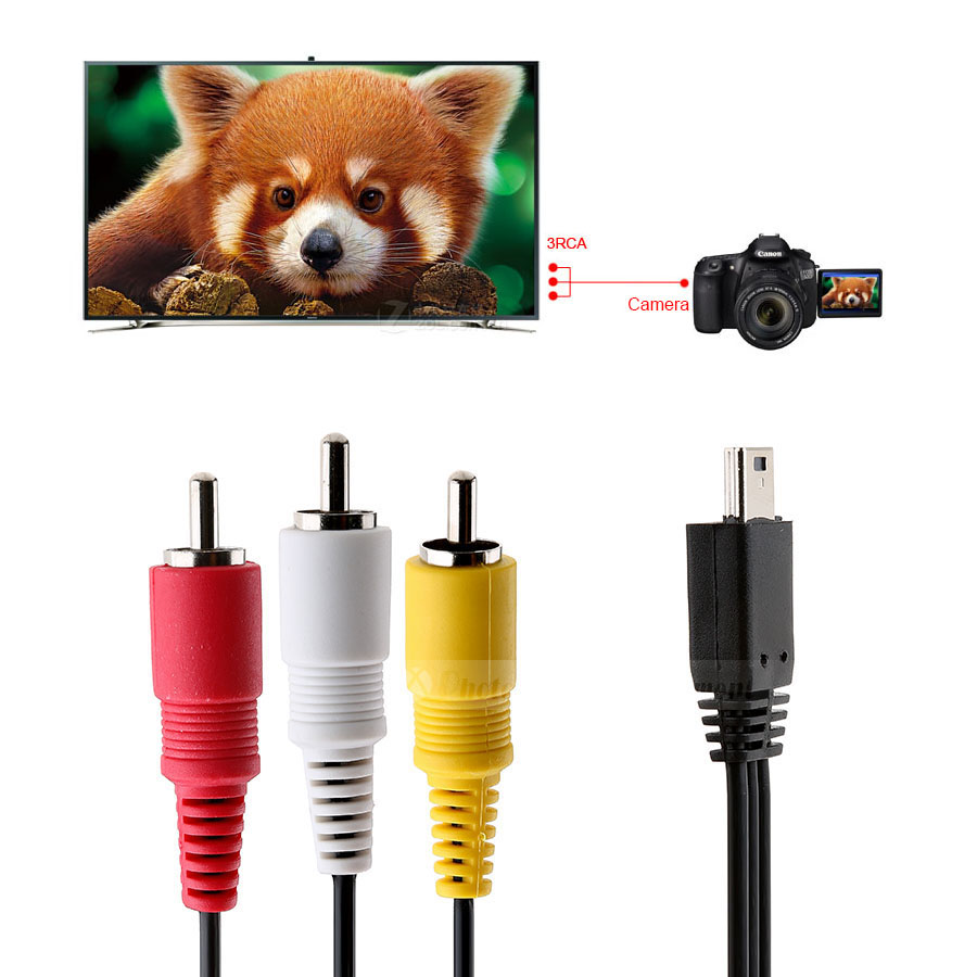 Camera Video Audio Av Cable Mini Usb To 3 Rca For Canon 5d Mark Ii Wiring Wall Plates Iii 1d X Sx700 Hs Sx710 Sx170 Is In Cables From Computer