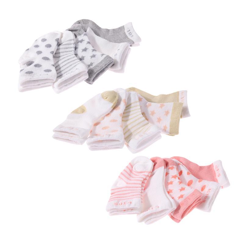0-6y 5 Pairs Unisex Baby Infant Schöne Mesh Socken Cartoon Atmungsaktive Baumwolle Socken Grau/khaki/licht Orange