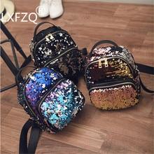 Backpacks School-Bag Mochilas Sequins Girls Woman PU for Adolescent Female