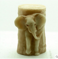 3D Silicone Soap/Candle Mold Elephant Cake Molds Chocolate Silicon Soap Mold Animal Fondant Cake Decoration Mold