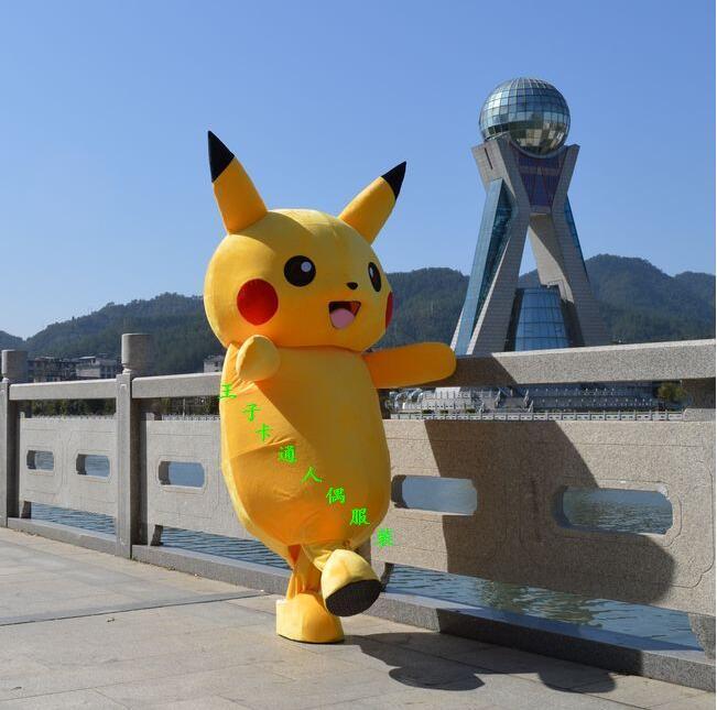 Costume de mascotte Pikachu personnages de dessins animés déguisements