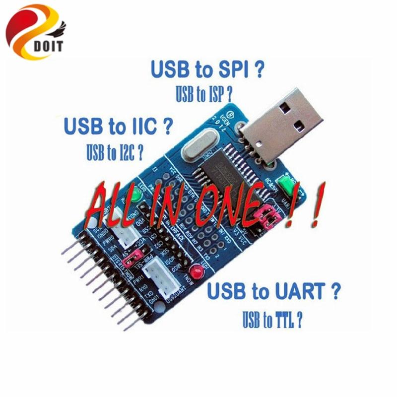 Official DOIT I2C SPI UART EPP MEM GPIO AllInOne USB Serial Convector Adapter DIY Kit RC Electronic Toy Robot Development Board esp 07 esp8266 uart serial to wifi wireless module