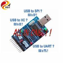 Oficial DOIT I2C SPI UART EPP MEM GPIO Todo En Uno USB convector de serie adaptador diy kit electrónico del rc robot de juguete de desarrollo junta