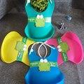 Venda quente atualizado new silicone bebê bib estéreo descartável bib crianças Bolso Arroz babadores para bebês Crianças Pegar Menino Bonito E Meninas Babadores Para Bebês 4 cor