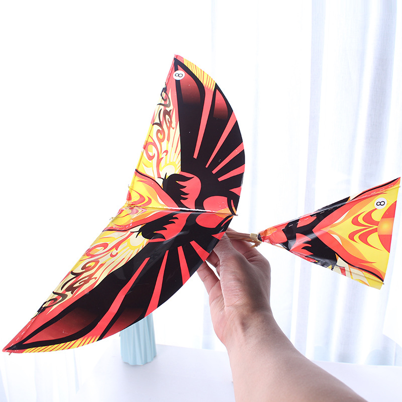 10pcs Science Kite Toys Rubber Band Power Birds Handmade Bionic Air Plane Ornithopter Birds Models Educational Outdoor Toys