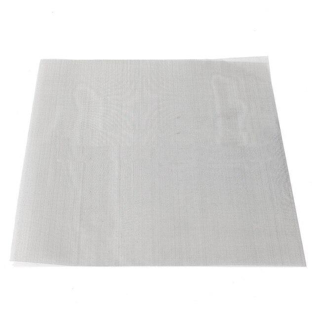 1 pc 60 Maille Tissé Grillage Tissu De Filtration 304 En Acier Inoxydable 30x30 cm avec Haute Résistance À La Température