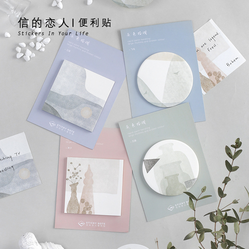 30 Sheets/pad Sunset Scenery Memo Pad Planner Stickers Sticky Notes Kawaii Stationery Label Note Pad Office Decoration