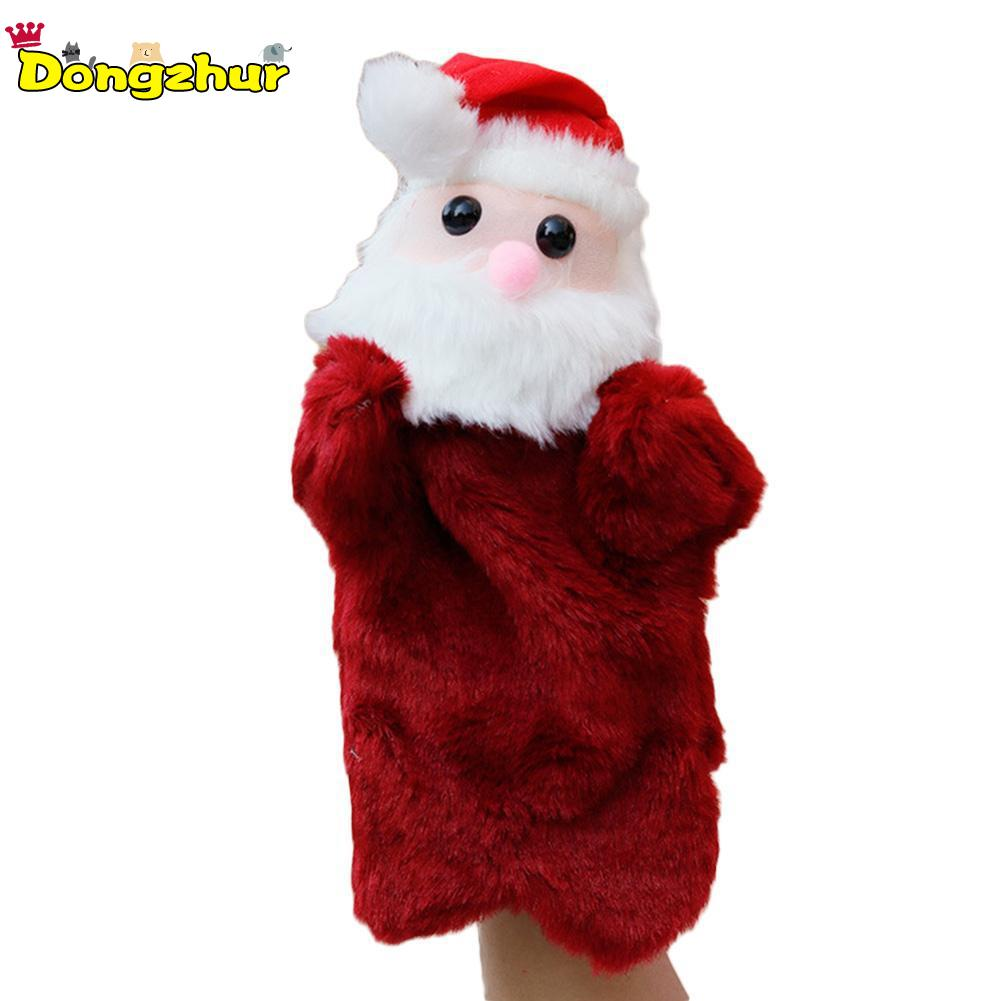 Creative Christmas Santa Claus Gloves Dolls Puppet Plush Toys Role Play Dolls For Children Toys POD5107