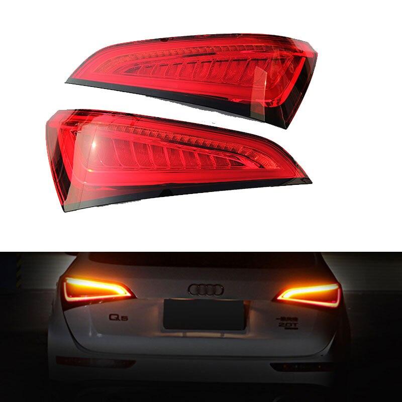 Feu arrière style voiture MZORANGE pour Audi Q5 2009-2017 feux arrière LED couvercle de lampe de coffre arrière DRL + Signal + frein + feux arrière arrière