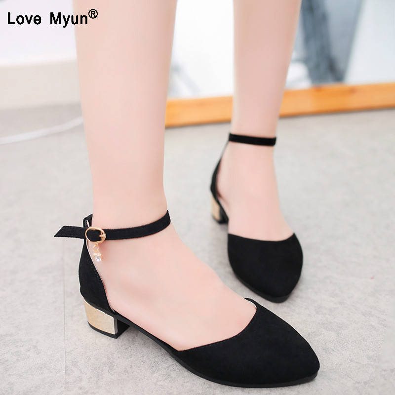 Women Flats Dress-Shoes Ankle-Strap Plus-Size 35-42 Shallow for Ladies Ballerina-Zapatos