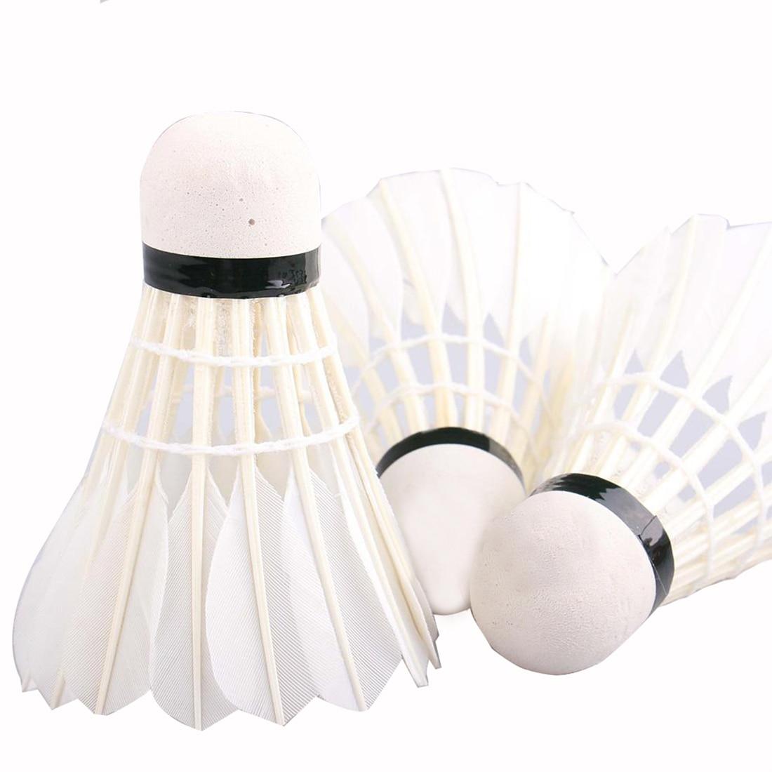 Vroče prodajajo 12pcs / lot Badminton žogice gosje perje jakne badminton žoge na prostem športni dodatki za badminton