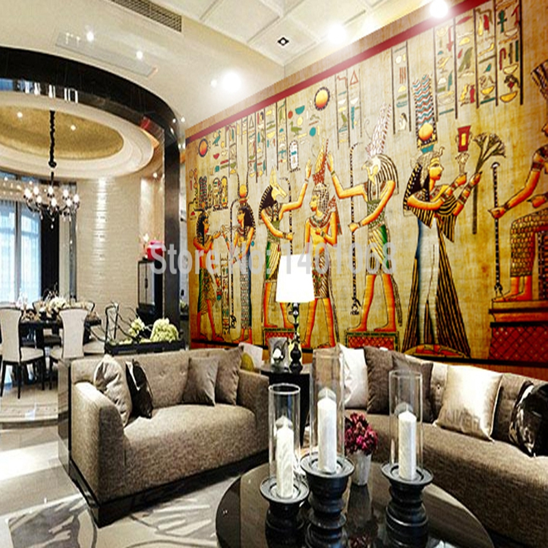 Popular egyptian photos buy cheap egyptian photos lots for Egyptian mural wallpaper