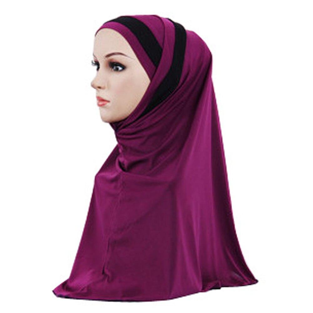 Muslim Women Full Cover Hijab Islam Head Wear Plain Headscarf Shawl Head Wrap