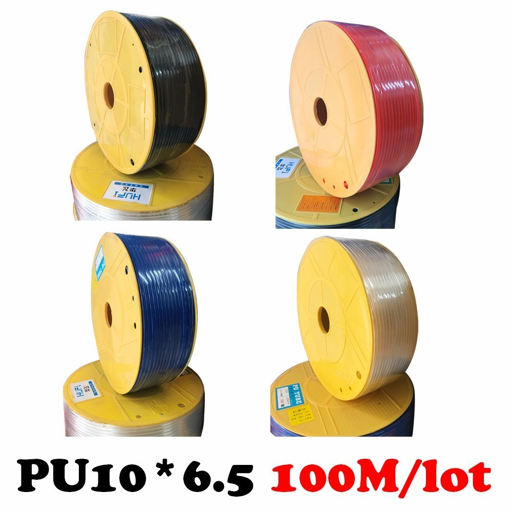 PU10*6.5 100m/roll High pressure air compressor PU tube 10*6.5mm air pipe to air compressor pneumatic component 13mm male thread pressure relief valve for air compressor