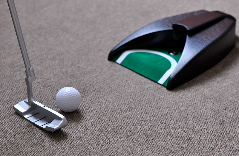 Golf Putter Travel Practice Putting Set Golfer Kids Toy Indoor Ball Return System Zink Alloy Office In Training Aids From