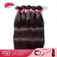 Ali Queen Hair 10Pcs/lot Brazilian Hair Weave Bundles Straight Virgin Hair Bundles 100% Human Hair Weft Products Free Shipping