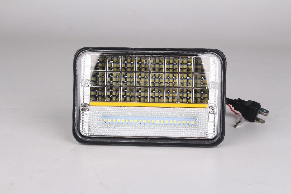 Super Bright square 45W LED fog work lamp with yellow day runing light waterproof for Off Road ATV UTV SUV