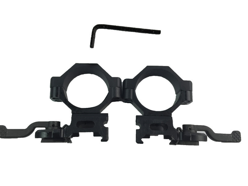 ФОТО Tactical Hunting Opics Quick Release 30mm Rifle Scope Mount with 20mm  Rail Weaver Picatinny Mounts Hunting Accessories