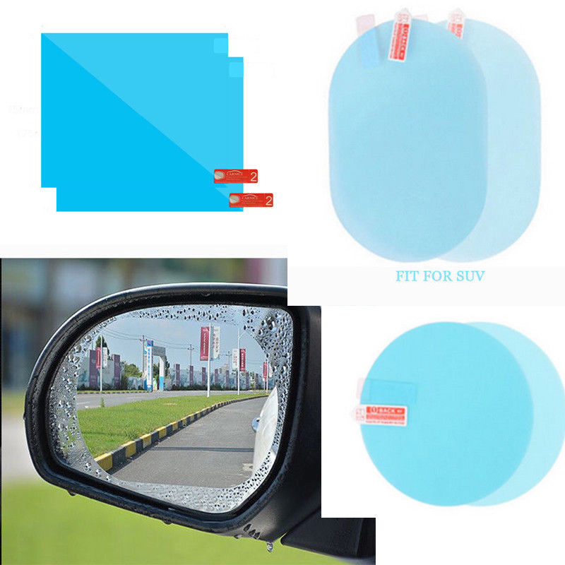 Car Rearview Mirror Film Anti-fog, Water, Mist, Anti Glare Protective Stickers Cars SUV Screen  Rear View Mirror Window Clear