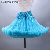 Pettiskirt for teenagers 2018 Candy Color Adult Girls Short Fluffy Tutu Skirt Mini skirt Summer