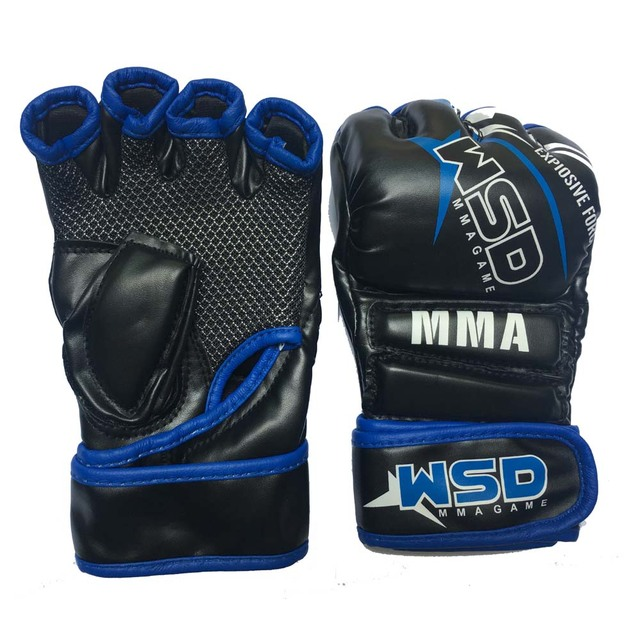 Mesh Padded Open Fingers Women/Men Muay Thai Boxing MMA Gloves Martial Arts Sparring Grappling Punch Training Mitts 2018 DEO