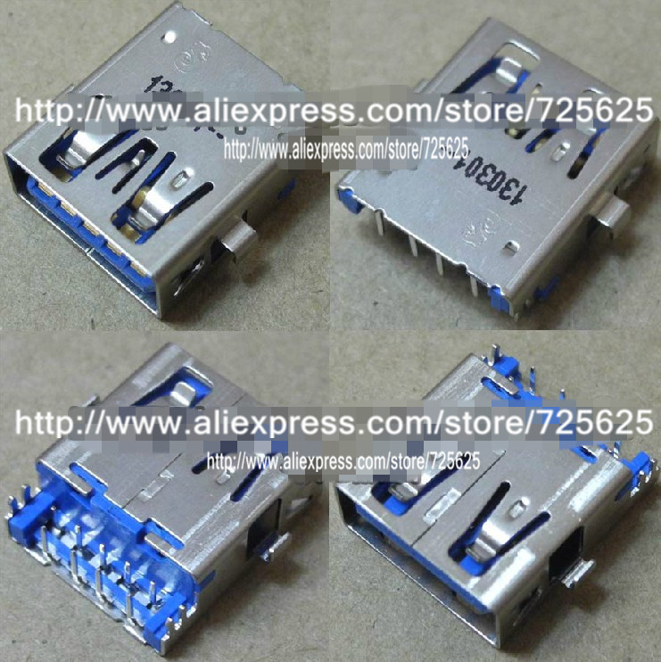 Free shipping wholesale price 10pcs Brand new high quality for Lenovo Dell HP Acer laptop 3.0 USB Interface / jack / connector brand new 20pcs wholesale price for sony