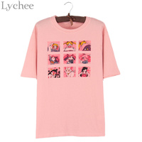 Lychee Japanese Summer Women T Shirt Sailor Moon Print Cute Short Sleeve Casual Loose Tee Top