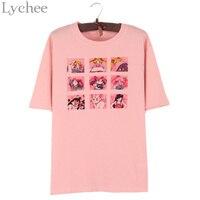 Lychee Japanese Summer Women T Shirt Sailor Moon Print Cute Short Sleeve Casual Loose Tee Top