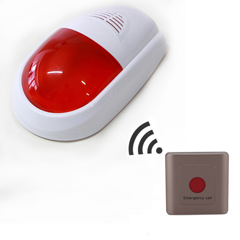 Wireless Emergency SOS Call System Sound and Light Alarm System with Remote ControllerWireless Emergency SOS Call System Sound and Light Alarm System with Remote Controller