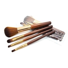 4pcs Mini Makeup brush Set Coffe color Cosmetics Kit de pinceis maquiagem high-end Make up Tool Hair Foundation Brushes