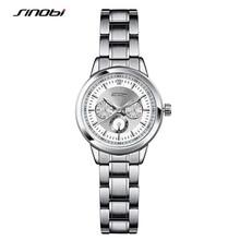 SINOBI Women's Fashion Steel Watches Womens Females Antique Geneva Quartz-watch Ladies Wristwatch Relojes Mujer 2016 saat G76