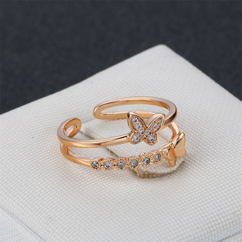 Romantic Butterfly Wedding Ring