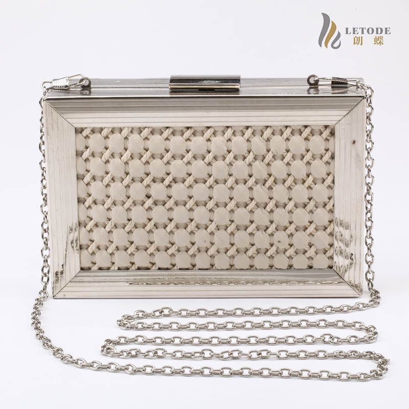 Metal frame Ladys leather evening bags luxury famous brand handbags fashion desinger clutch bolsa feminina purse 8158
