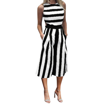 Feitong 2018 Sexy Women Sleeveless Striped Jumpsuit Romper Women Casual Clubwear Beach Casual Wide Leg Pants Outfit Playsuit#xqx outfits para playa mujer 2019