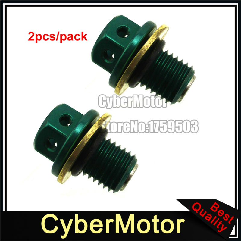 Green ATV Magnetic Oil Drain Bolt Plug For 50cc 90 110cc 125cc 140cc 150cc 160cc Lifan YX Zongshen Engine Pit Dirt Bike Quad
