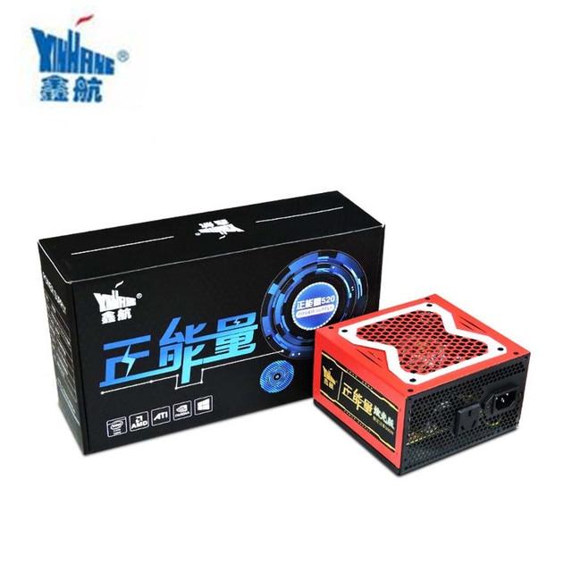 XINHANG ATX 24pin 12V 520W PC Power Supply 520W PSU For Game Color LED Desktop Computer Power Supply CPU Gamer Server PSU ATX