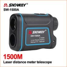 Лазер sndway измеритель расстояния Гольф цифровой измеритель расстояния Охота телескоп мера 1200 м 1500 лазерный дальномер