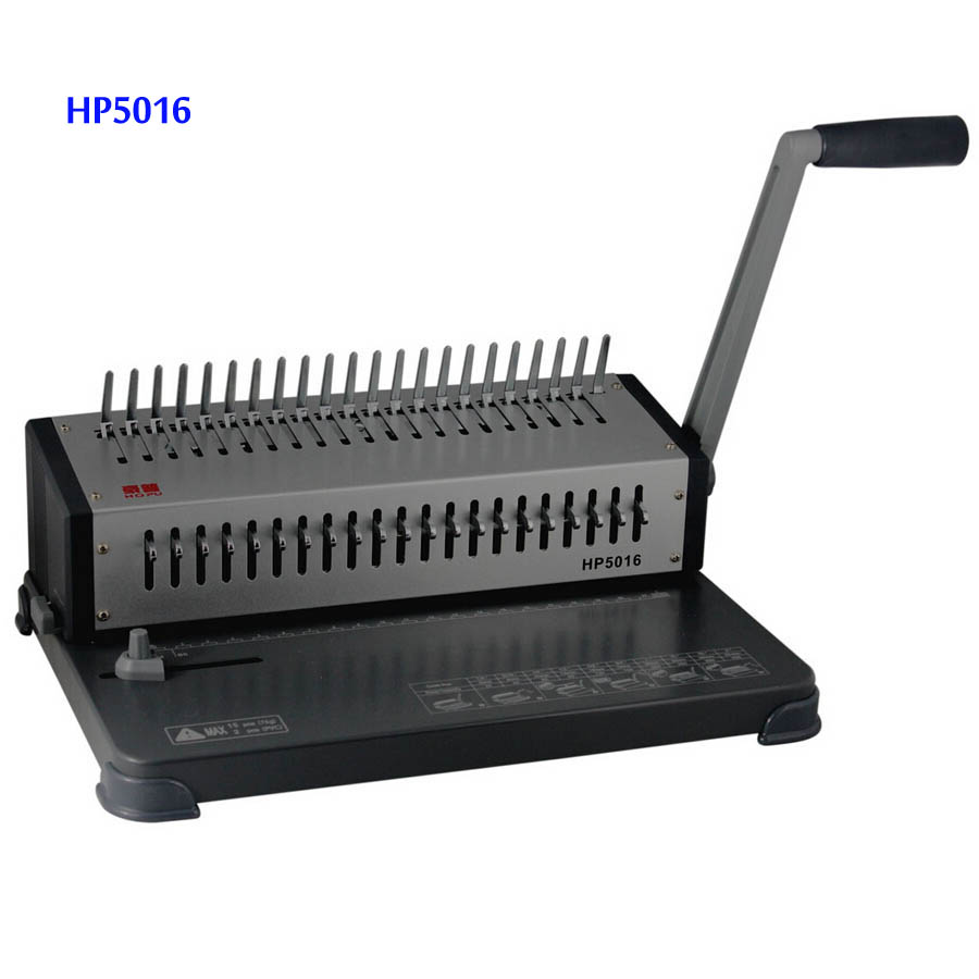 HP5016 Manual Comb Wire Binding Machine A4 Paper Book Binder Paper Folder binding machine hp5016 manual a4 paper book binder comb wire binding machine paper folder binding machine