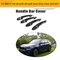 Carbon Fiber Auto Side Door Handle Bar Catch Covers Trims For BMW X1 F48 SUV 4