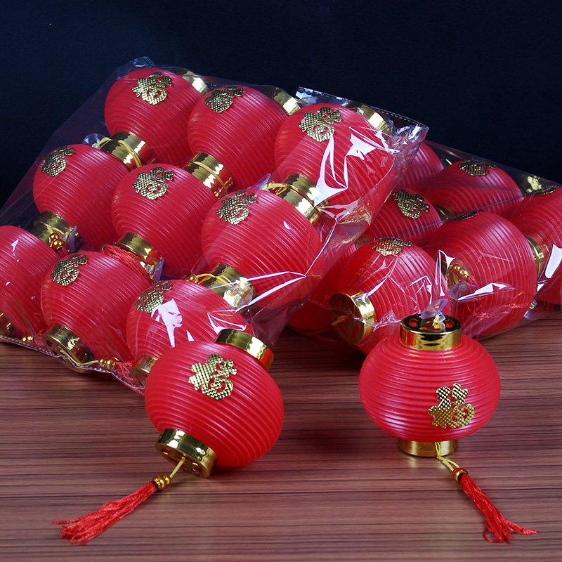 Hot Sale 9 Pcs Lot Traditional Chinese Red Lanterns New Year Wedding Party Spring Festival